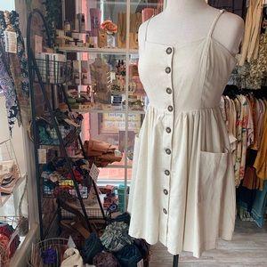 Button Up Pocket Dress